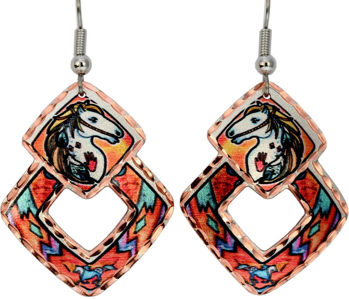 War Horse Earrings Designed by Lynn Bean