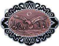 Wholesale Western Belt Buckles with Copper Embossed American Eagle Designs