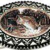 Copper western belt buckles, fisherman belt buckle