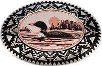 Buy Silver Color Western Belt Buckles Embellished with Handmade Loon Copper Designs