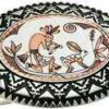 Wholesale Western Belt Buckles Decorated with Handmade Copper Kokopelli Design Silver Plated and Diamond Cut