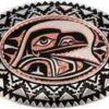 Silver Plated and Diamond Cut Native Haida Raven Copper Art Inset Into Silver Color Western Belt Buckles