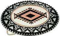 Buy Silver Plated and Diamond Cut SW Native American Copper Art Inset Into Silver Color Western Belt Buckles