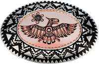 Native Haida Thunderbird Western Belt Buckles for Men