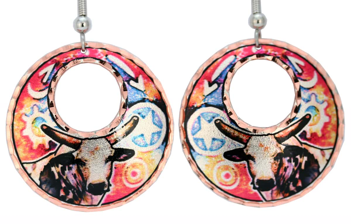 Western Cow Earrings