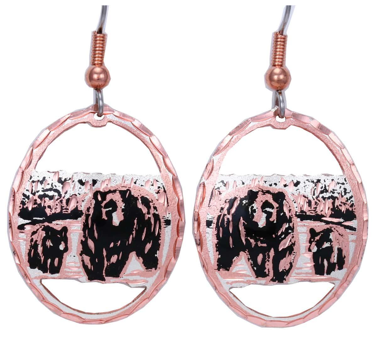 Buy Handmade Bear and Cub Earrings Wholesale