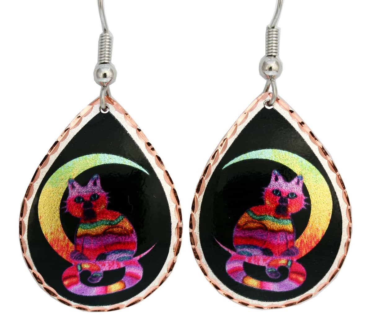 Nick Gustafson Designed Moon & Cat Earrings