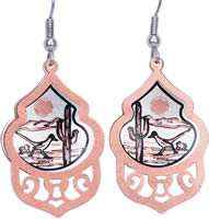 Buy copper roadrunner earrings unique and stylish