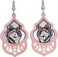 Check out our magnificent wolf earrings handmade in fine quality