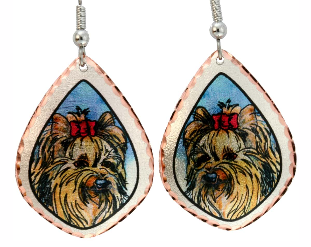Whimsical Dog Art Jewelry Earrings