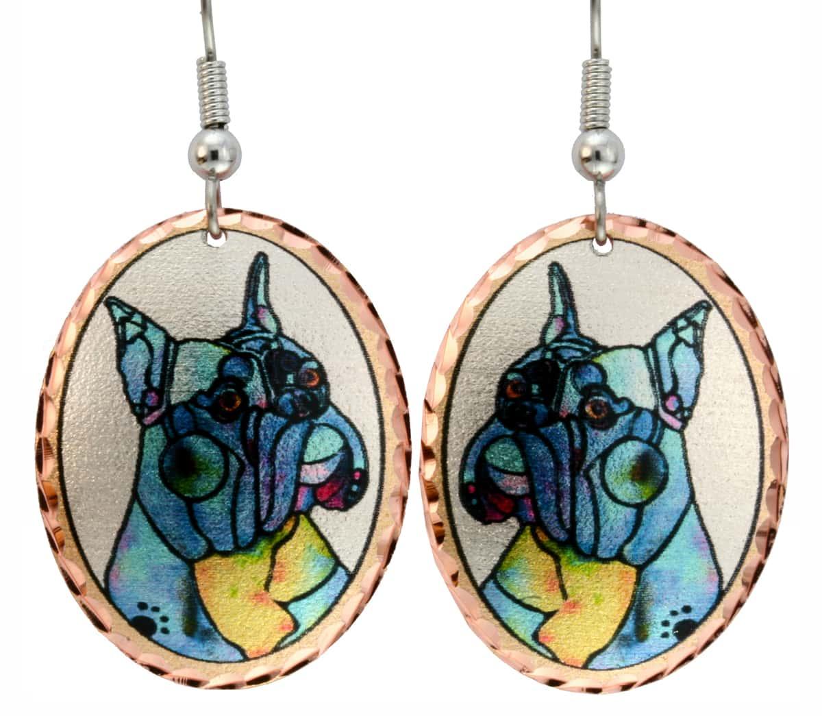 Boxer Dog Earrings Designed by Jo Lynch