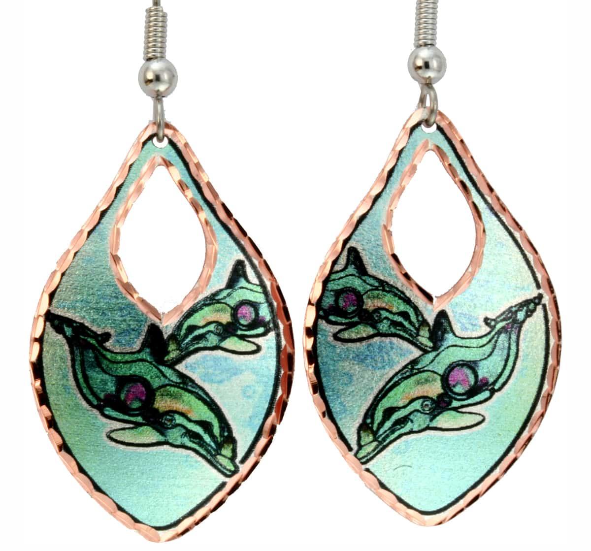 Dolphin Earrings Designed by Jo Lynch