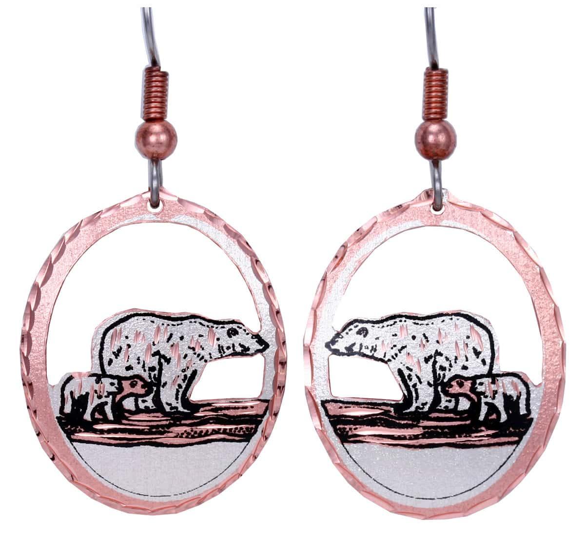 Cut Out Cute Polar Bear Earrings