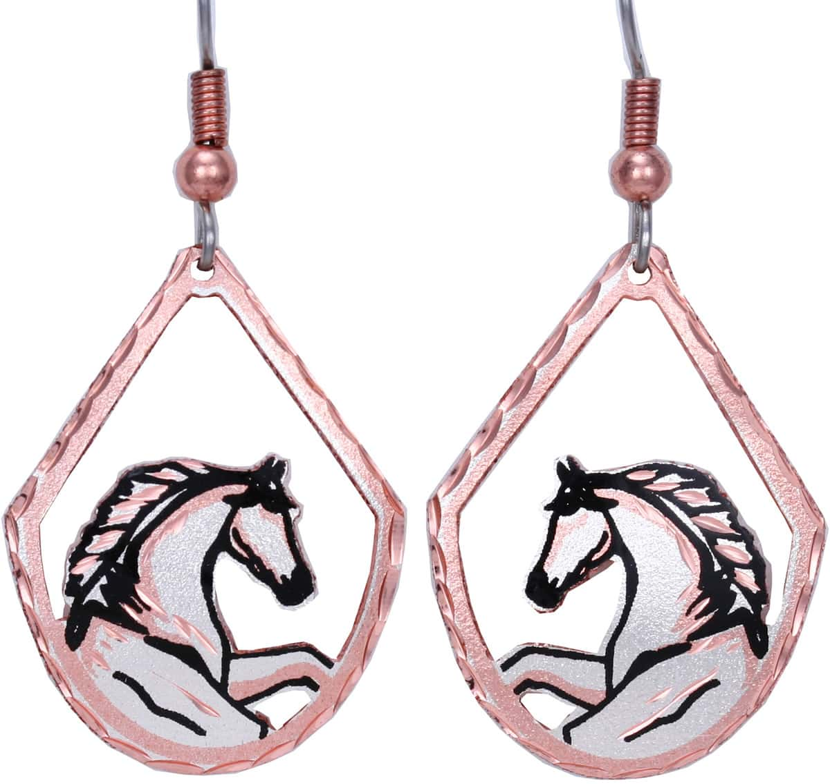 Handmade stallion horse earrings