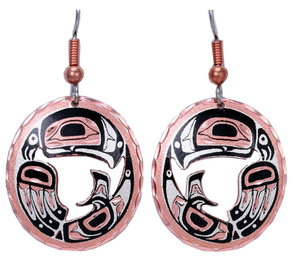 Native Haida Eagle Earrings