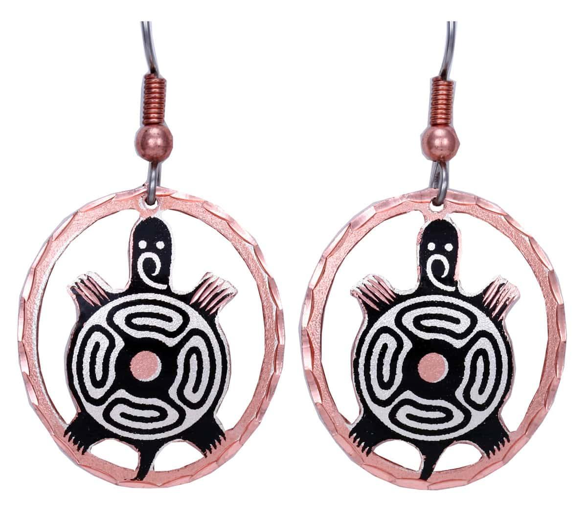 Southwest Native American Turtle Earrings