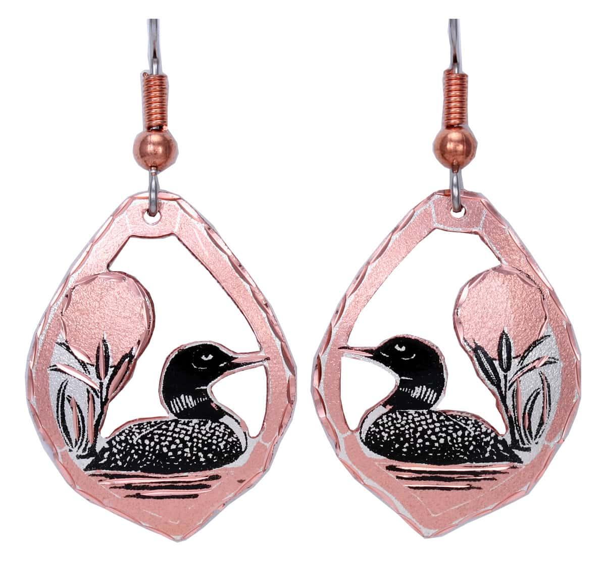 Canadian Wildlife Loon Earrings