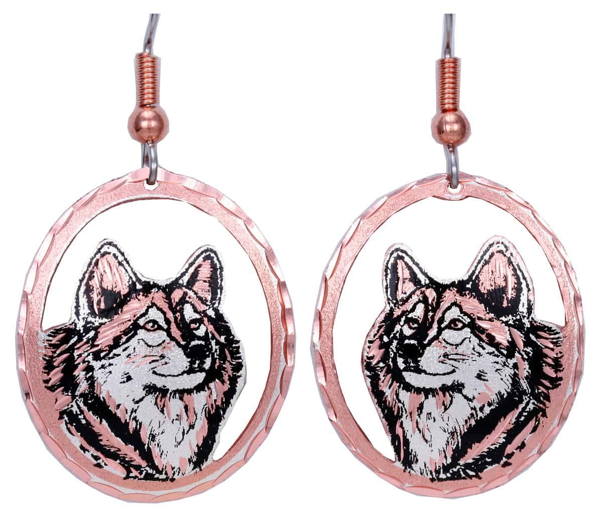 Handmade Jewelry Wholesale, Wolf Earrings