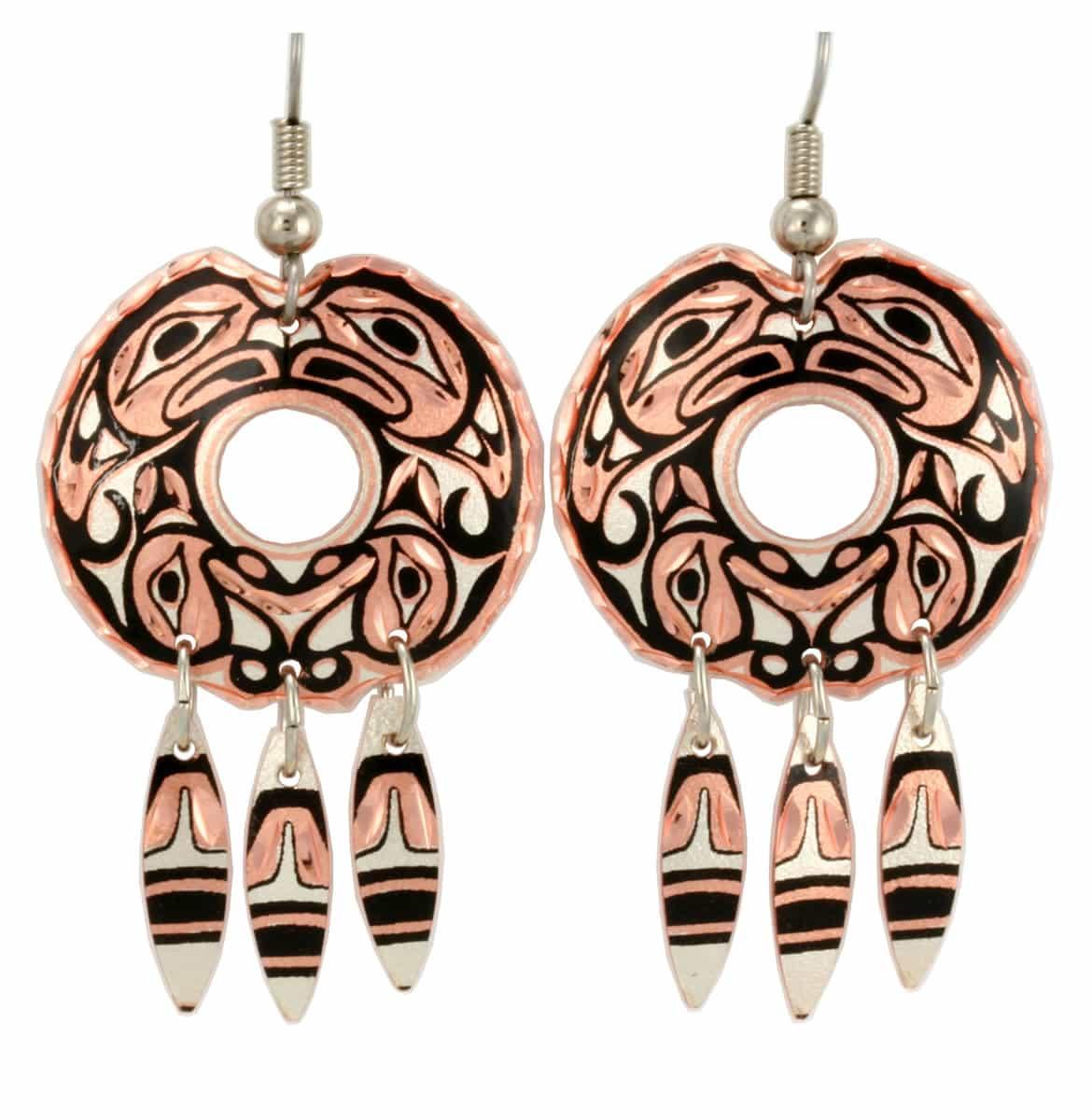 Buy Northwest Native Otter Totem Dangle Earrings