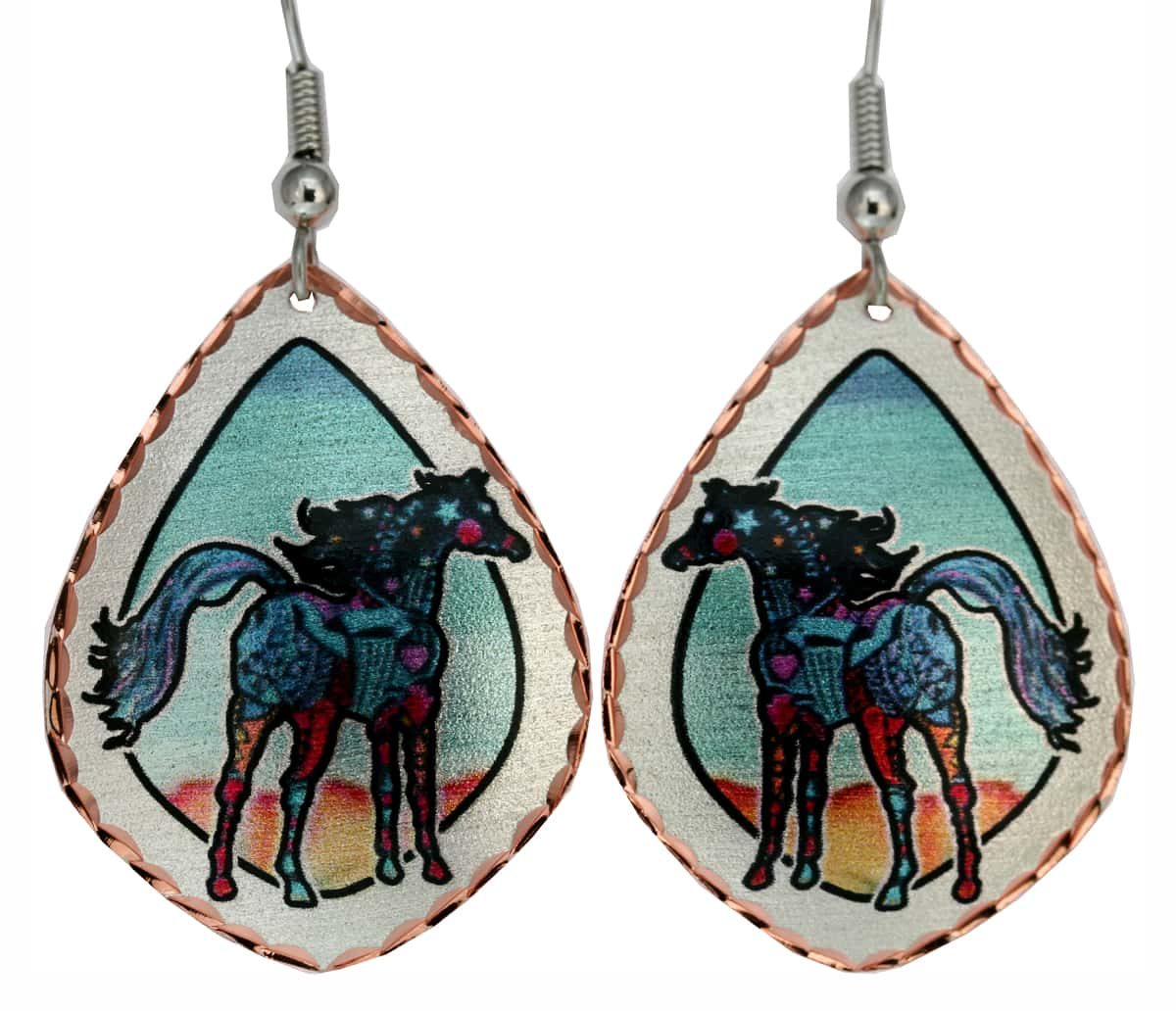 Whimsical Horse Earrings Designed by Jo Lynch