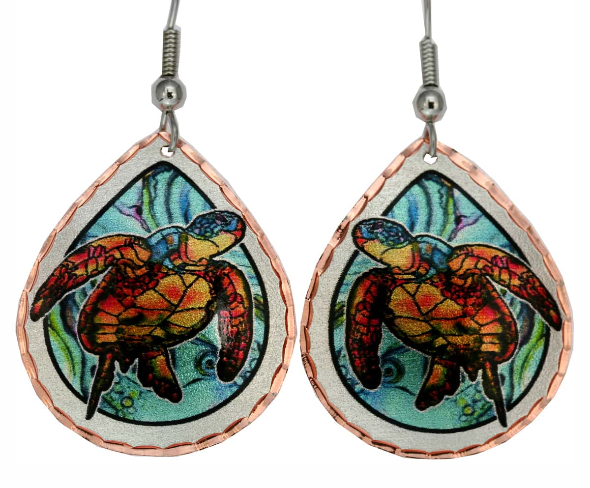Whimsical Sea Turtle Earrings