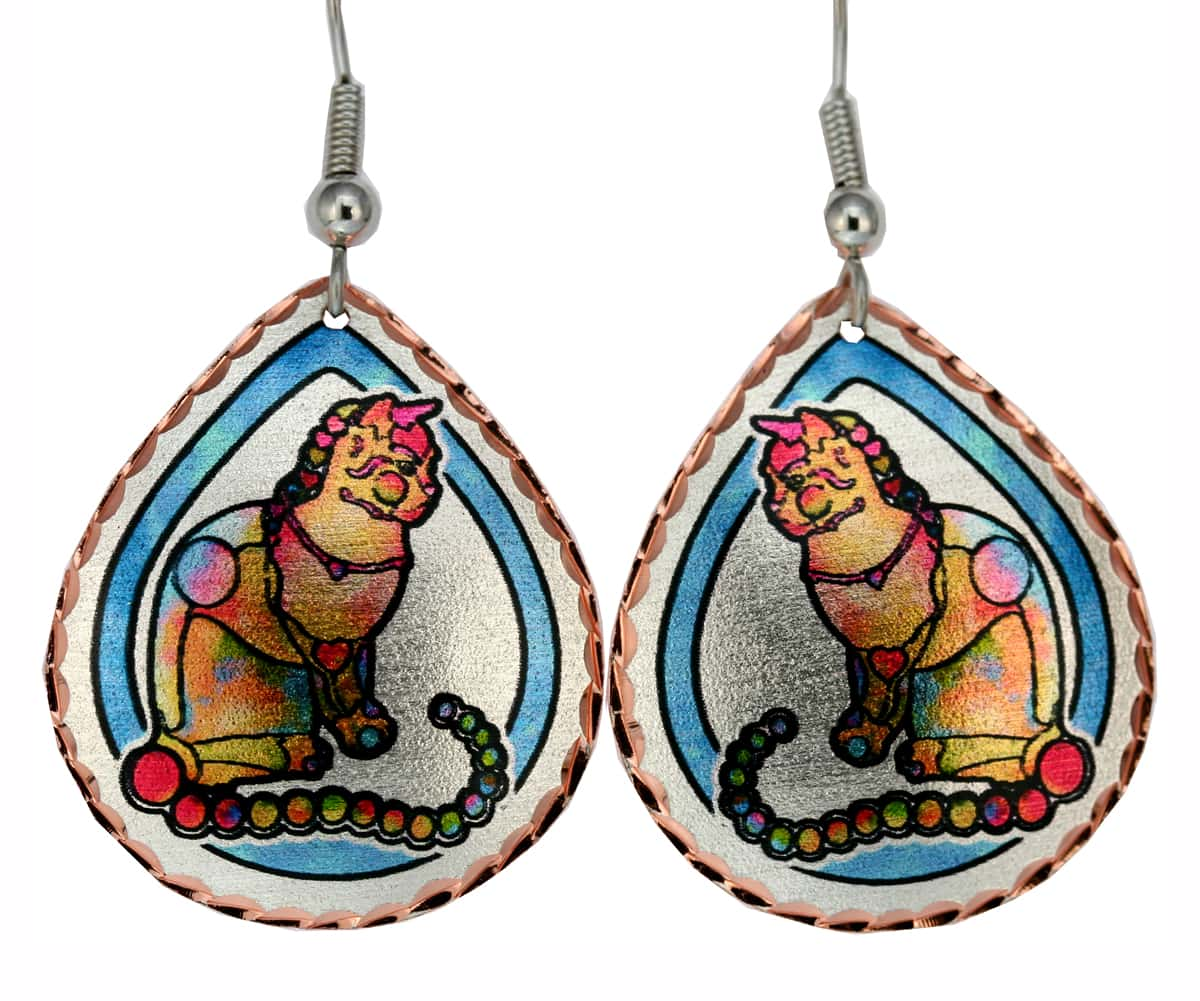 Whimzical Cat Earrings