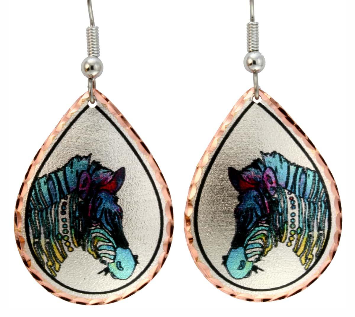 Zebra Earrings Designed by Jo Lynch