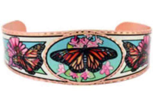 Butterfly Art Jewelry, Colorful Handmade Butterfly Bracelets BY-46