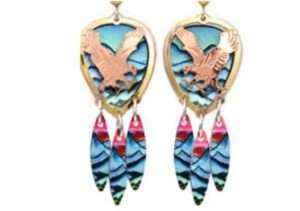 Eagle Jewelry, Handmade Eagle Earrings