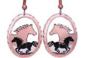 Handmade Copper Horse Earrings