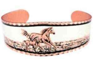 Handmade Horse Copper Bracelets