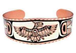 Northwest Native Haida Thunderbird Bracelets