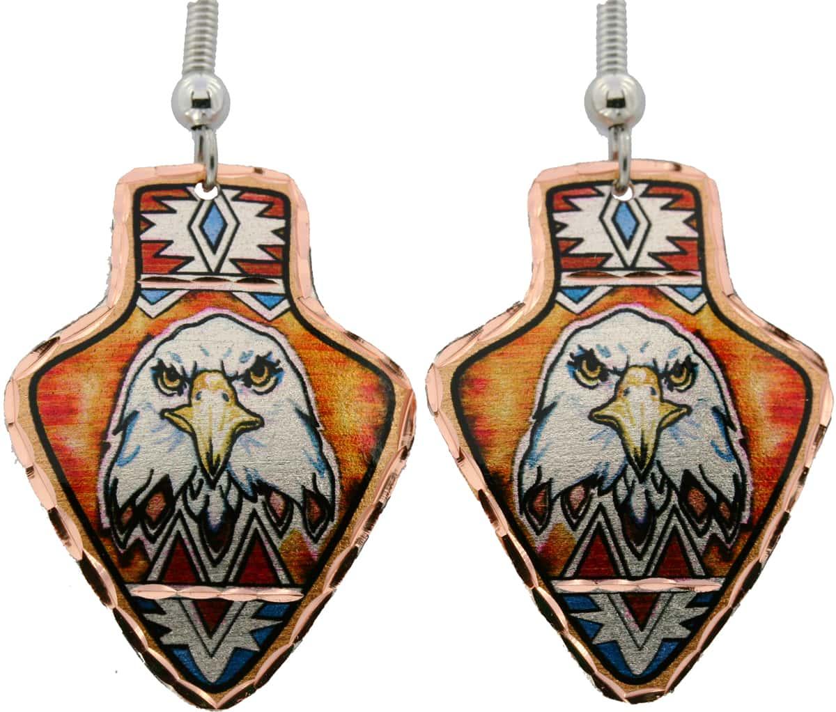Arrowhead  Shape American Eagle Earrings