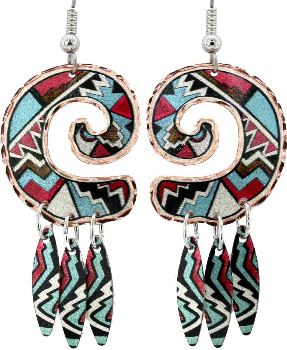 SW Native Indian Dangle Earrings