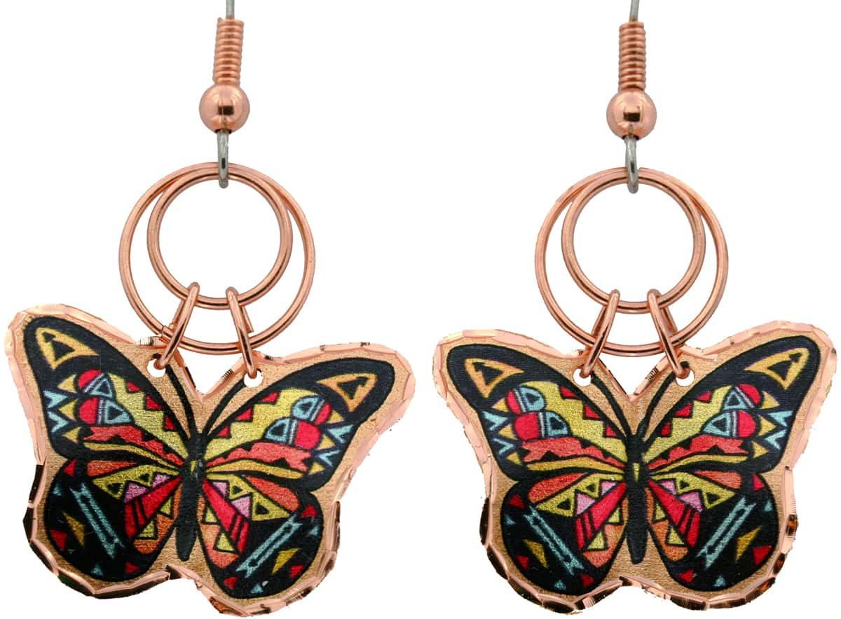 Butterfly Dangle Earrings, Lynn Bean wire jewelry earrings