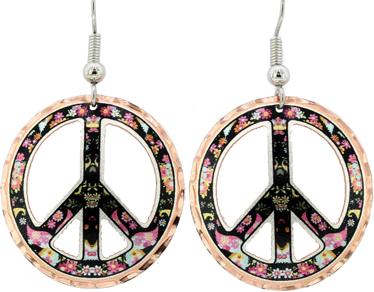 Cut Out Peace Sign Earrings