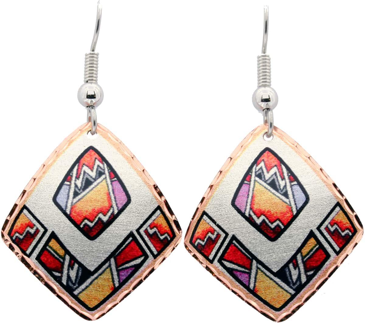 Diamond Shape Native American Earrings