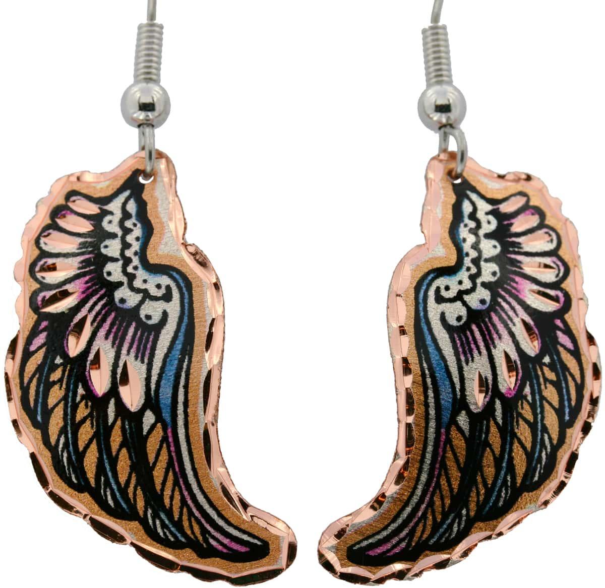 Eagle Wings Copper Earrings