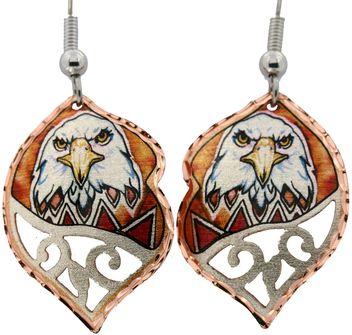 Native American Eagle Filigree Earrings, Designed by Lynn Bean