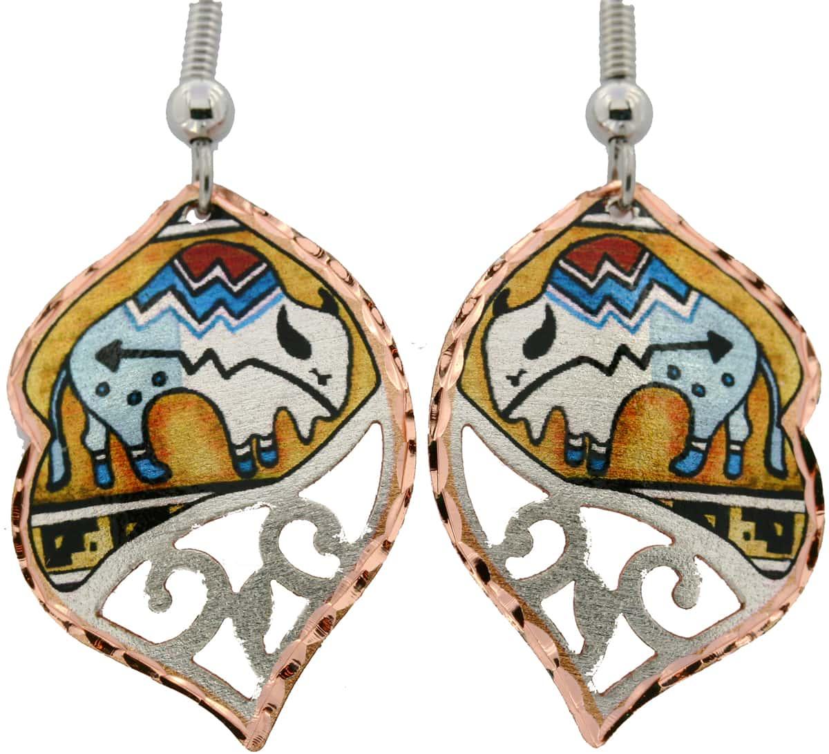 Cutout Native Buffalo Earrings