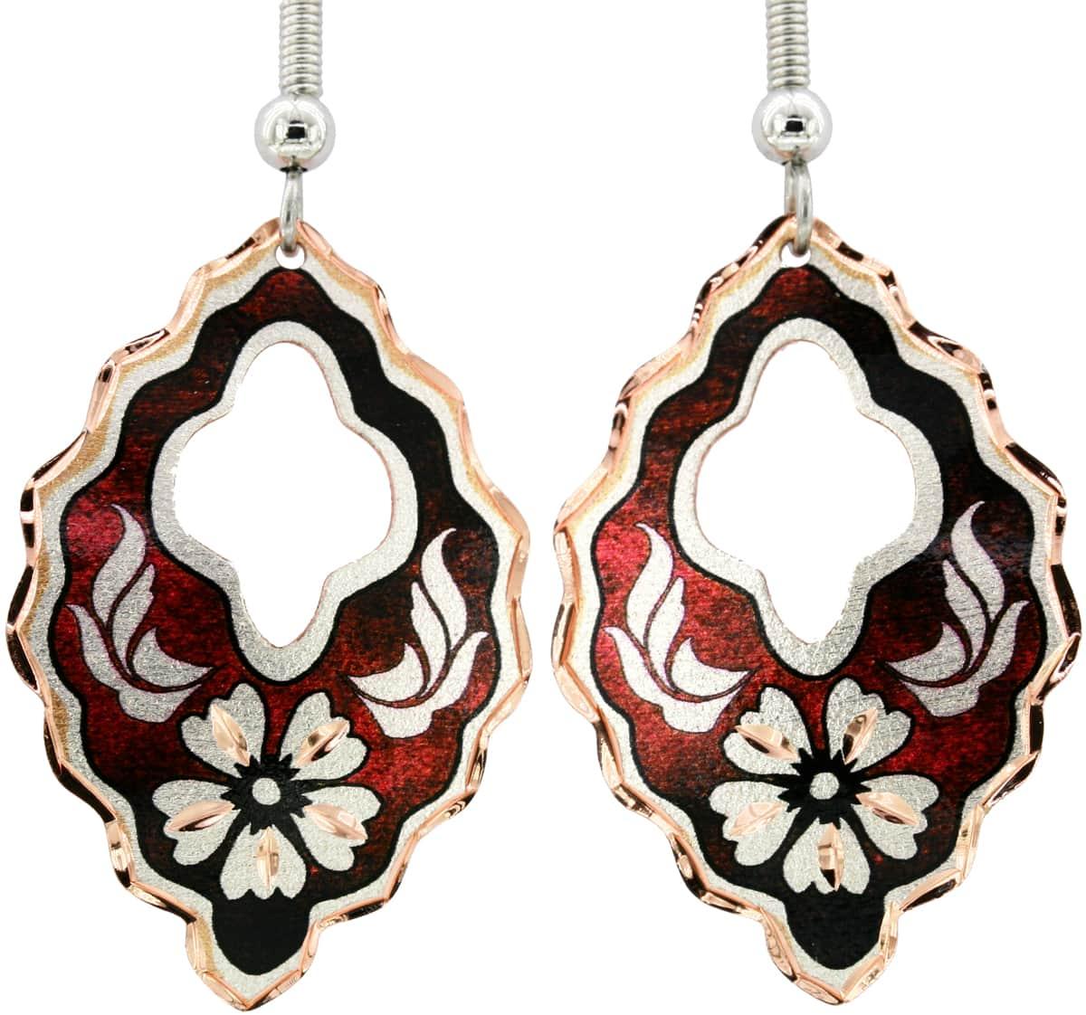 Carnation Flower Earrings