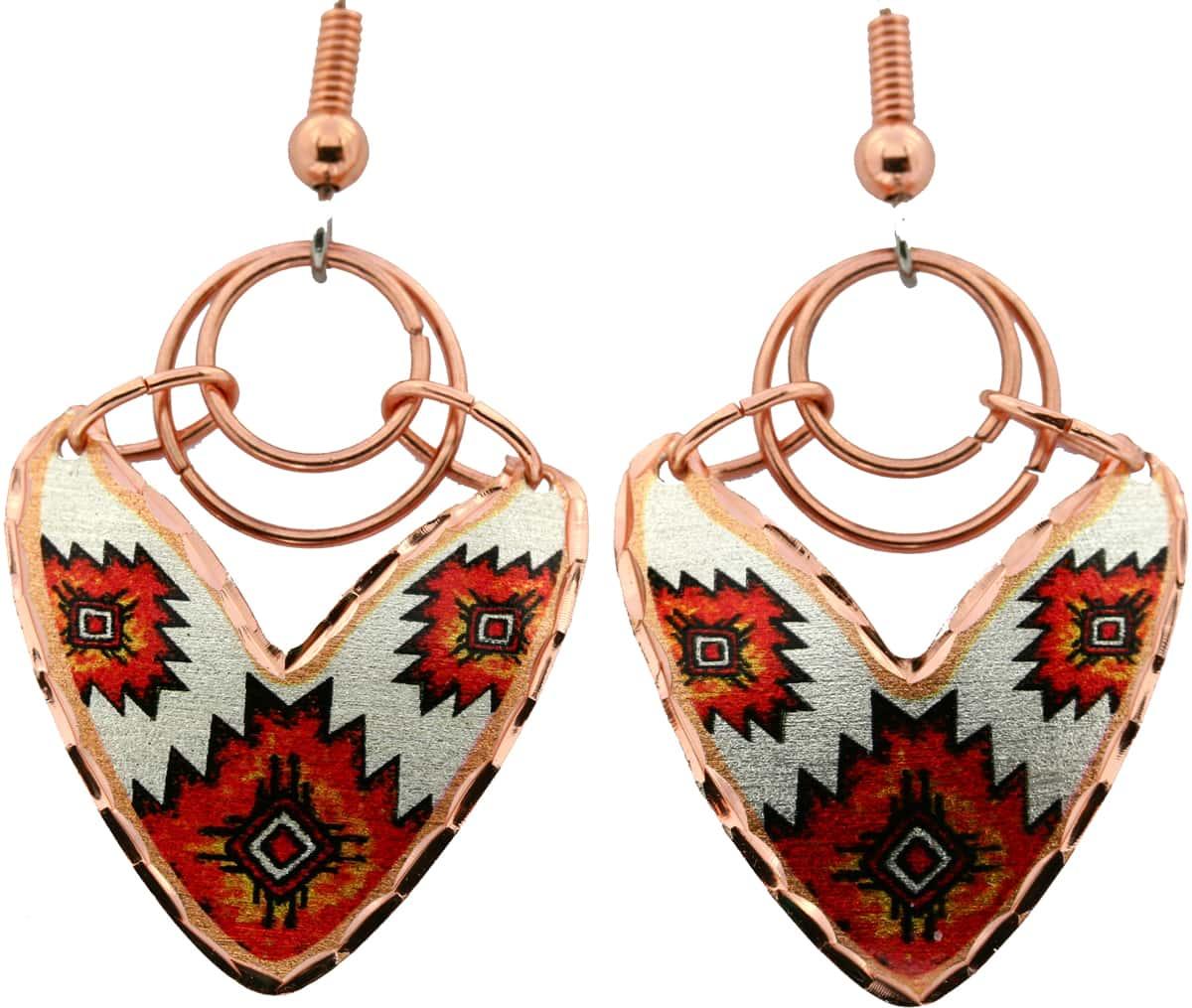 SW Native American Copper Wire Earrings