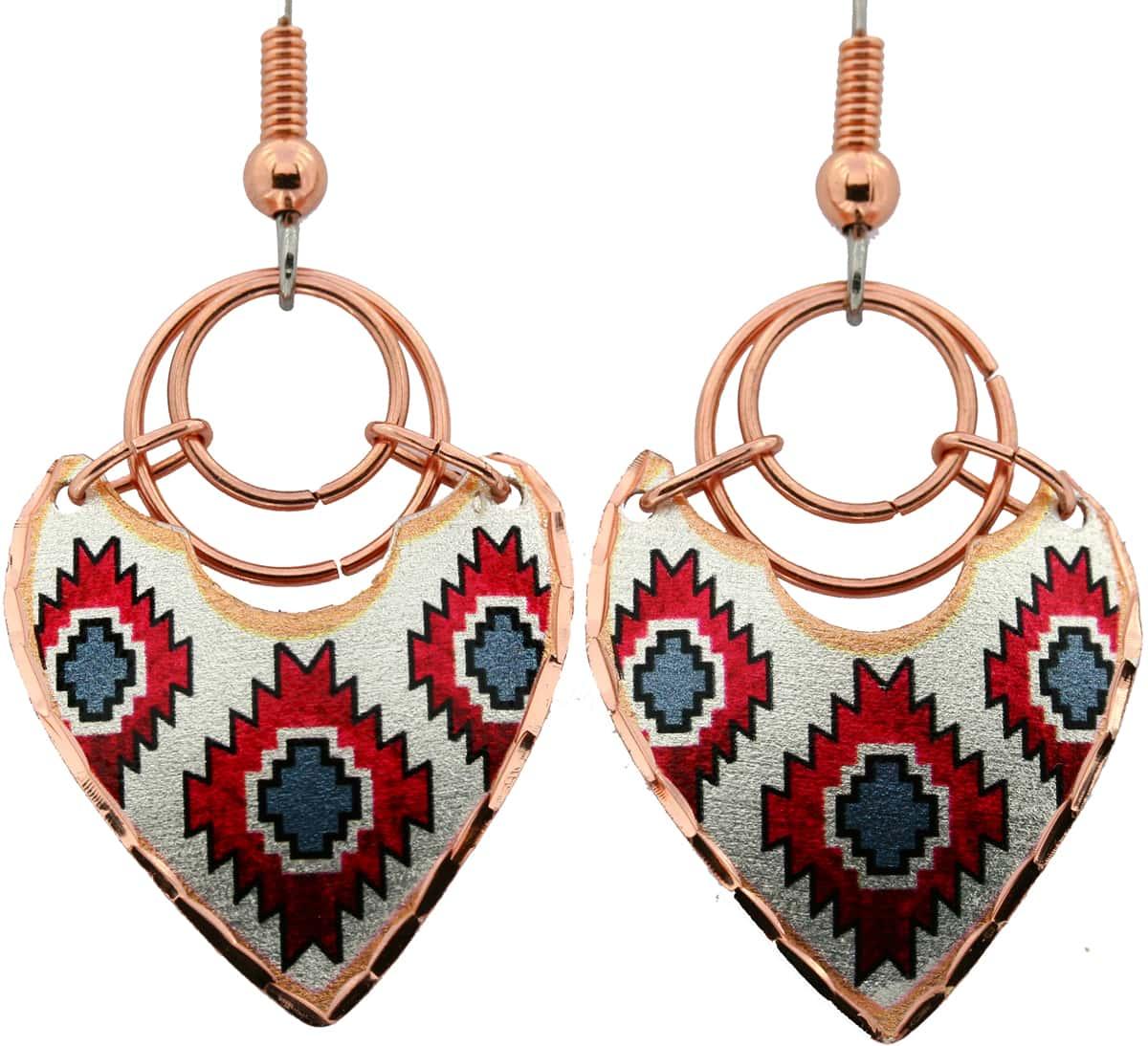 SW Native American Dangle Earrings, Art Jewelry