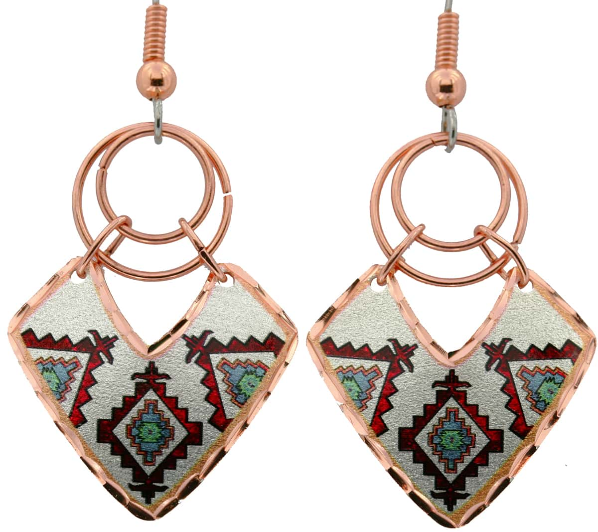 Native Earrings Crafted by Hand Using Copper and Copper Wires