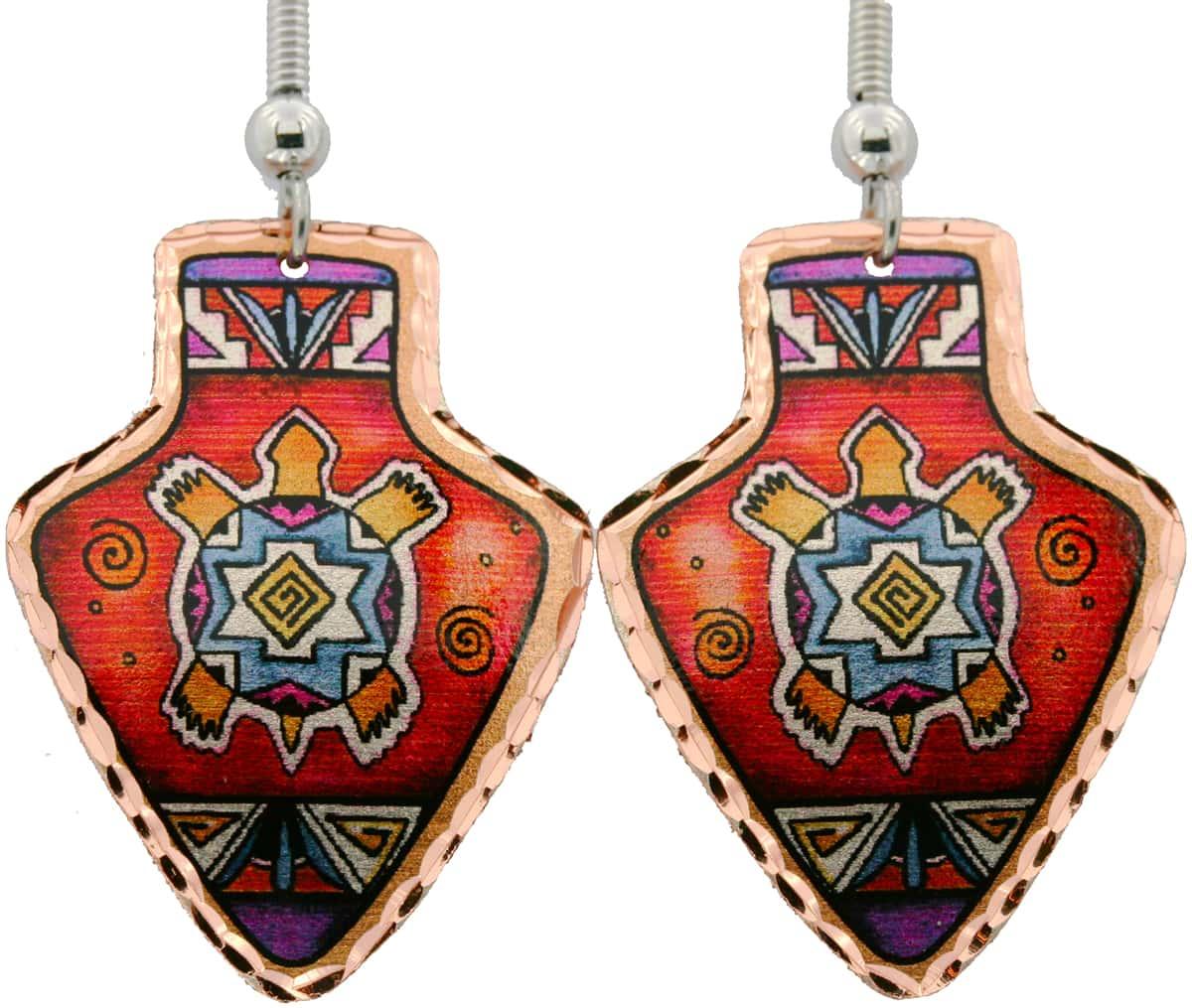 SW Turtle Arrowhead Earrings