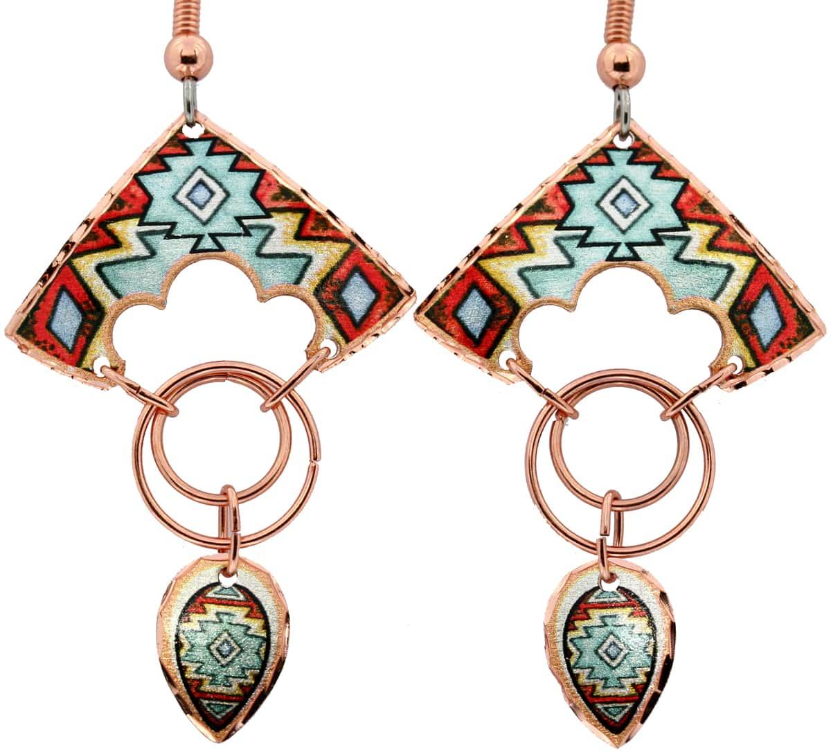 Handcrafted Copper Wire Jewelry Earrings, Lynn Bean Wire Jewelry Earrings