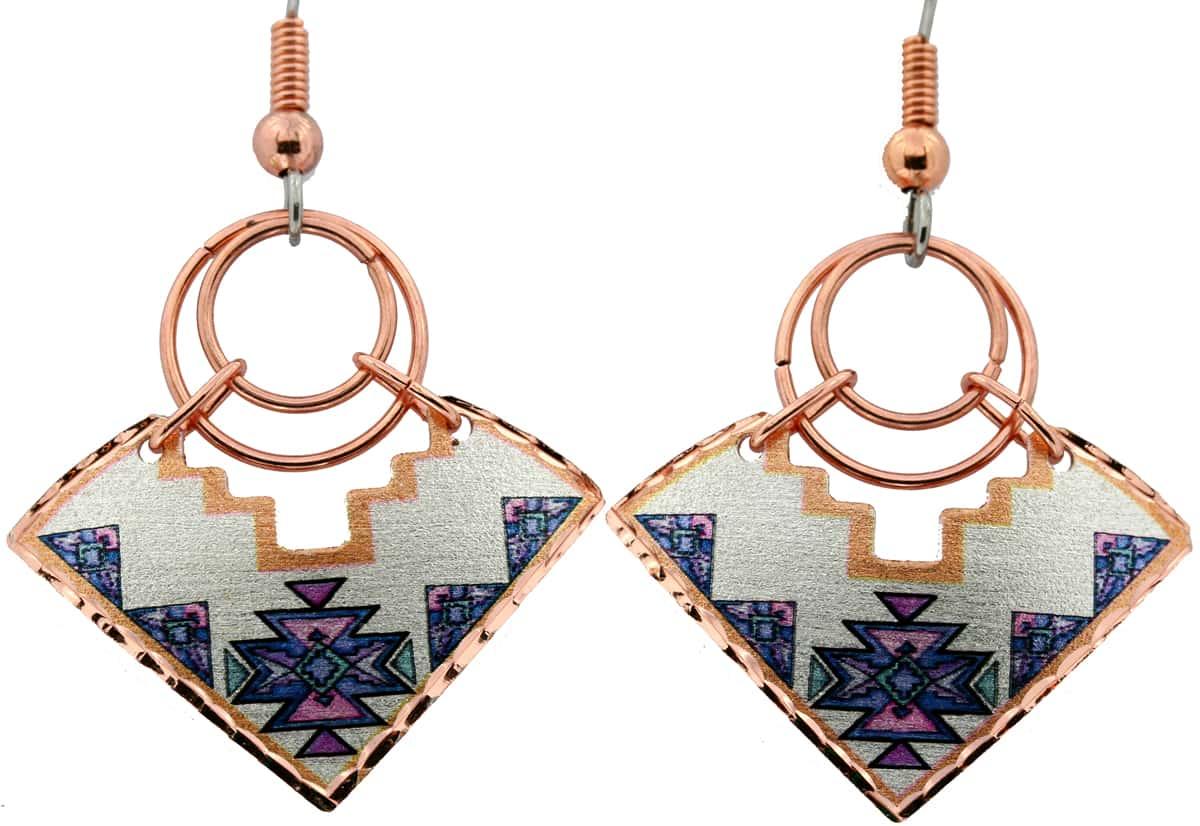 SW Native Wire Jewelry Earrings, Art Jewelry