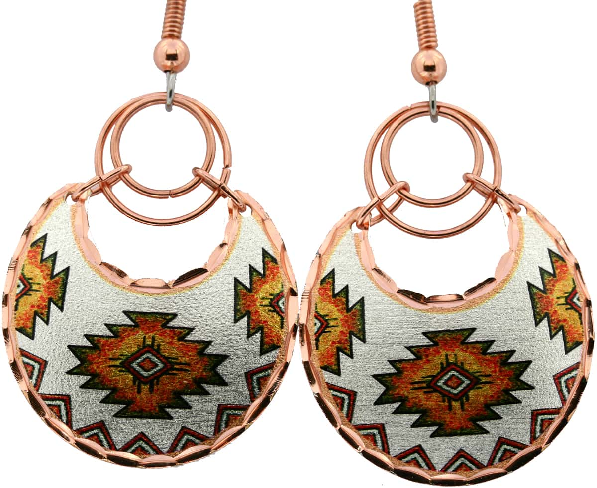 Native American Wire Jewelry Round Earrings