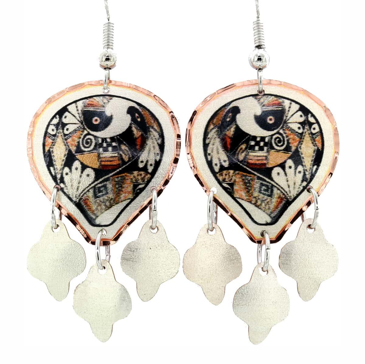 SW Native Pueblo Art Dangle Earrings