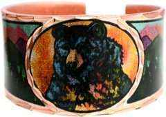 Copper Bear Colorful Ring